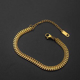 Lắc tay xích nữ trơn mạ lớp vàng 24kLắc tay xích nữ trơn mạ lớp vàng 24k